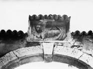 Mletački lav na gradskim vratima 1978. godine, Višnjan. (fn. 16192) Iz arhive Arheološkog muzeja Istre