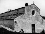 Pogled na pročelje bazilike sv. Marije u Vrsaru 1970. godine, Vrsar. (bn. 8981) Iz arhive Arheološkog muzeja Istre