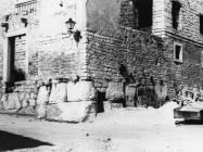 Jugozapadni kut kaštela u Vrsaru 1976. godine, Vrsar. (fn. 14799) Iz arhive Arheološkog muzeja Istre