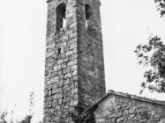 Zvonik crkve sv. Jurja u Završju snimljen 1967. godine. Završje (bn. 8774.) Iz arhive Arheološkog muzeja Istre