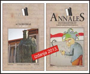 Naslovnice Acta Histriae i Annales