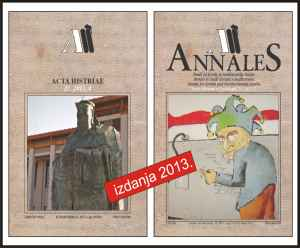 3. Acta Histriae i Annales naslovnice