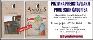 4. Acta Histriae i Annales pozivnica