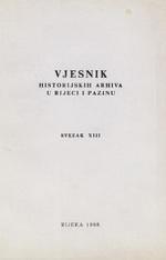 Vjesnik historijskih arhiva u Rijeci i Pazinu