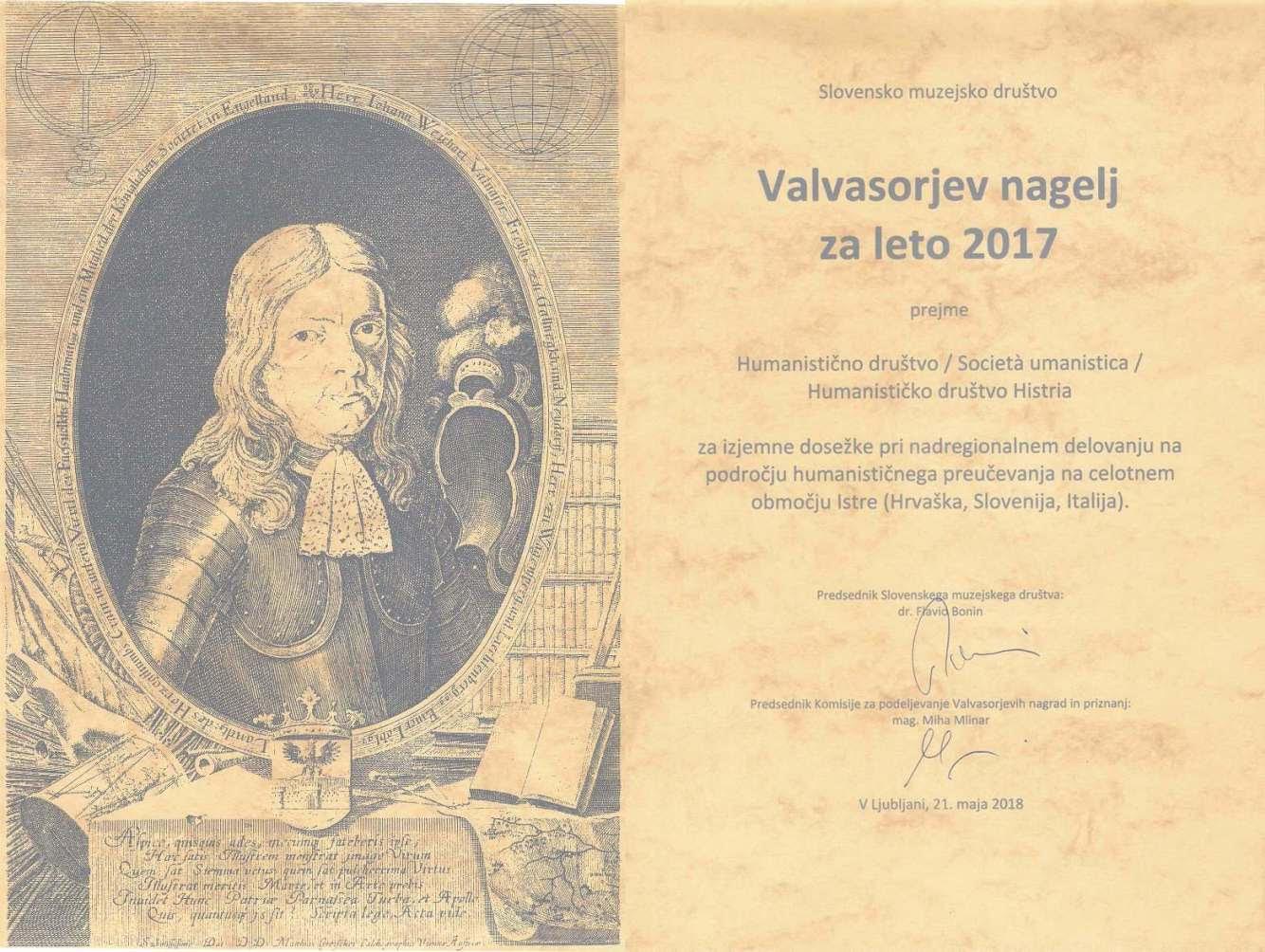 Valvasorova nagrada 2017.