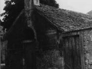 Crkva sv. Duha početkom 50-ih godina, Bale. (bn. 1819) Iz arhive Arheološkog muzeja Istre