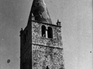 Zvonik u u Balama u prvoj polovici 80-ih godina, Bale. (fn. 19382) Iz arhive Arheološkog muzeja Istre