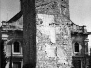Zvonik u u Balama u prvoj polovici 80-ih godina, Bale. (fn. 19383) Iz arhive Arheološkog muzeja Istre