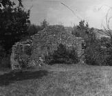 Ostaci crkve Svetog Petra u Boljunu sredinom 50-ih godina, Boljun. (fn. 3953). Iz arhive Arheološkog muzeja Istre