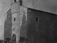 Pročelje crkve Svete Marije u Božjem polju 1952. godine, Božje polje. (fn. 2312) Iz arhive Arheološkog muzeja Istre