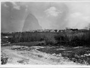 Pogled na Brtoniglu 1991. godine, Brtonigla.  Iz arhive Arheološkog muzeja Istre