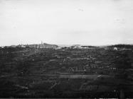 Pogled s brežuljka Castagnari na Buje 1954. godine, Buje. (bn. 3005.) Iz arhive Arheološkog muzeja Istre