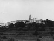 Pogled na grad s hotela Fontana 80-ih godina, Buzet. (fn. 19700) Iz arhive Arheološkog muzeja Istre