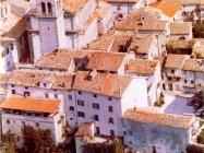 Zračni snimak starog grada na prijelazu stoljeća, Buzet. (fn. 36639) Iz arhive Arheološkog muzeja Istre