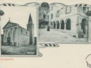 Crkva Sv. Vida, Modesta i Krešencije u Grožnjanu između dva svjetska vrata. Grožnjan. Iz arhiva Zavičajnog muzeja u Buzetu