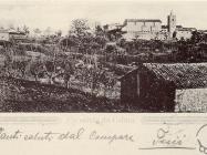 Pogled na Hum početkom XX. st., Hum. Iz arhive Zavičajnog muzeja u Buzetu