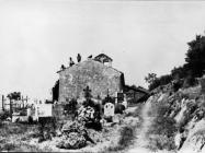 Radovi na krovu crkve Svetog Jeronima 1972. godine, Hum. (fn. 11811) Iz arhive Arheološkog muzeja Istre
