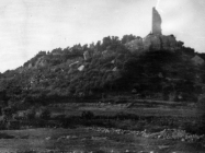 Pogled na kulu Turan početkom 50-ih godina, Koromačno. (fn. 765) Iz arhive Arheološkog muzeja Istre
