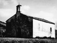 Crkvica sv. Stjepana ispod Kastanje, sagrađena na ruševinama rimske vile, Kostanjica. (fn. 9287.) Iz arhive Arheološkog muzeja Istre