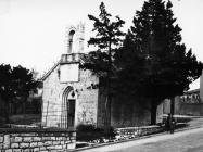 Crkva sv. Kuzme i Damjana u prvoj polovici 60-ih godina, Labin. (bn. 6463) Iz arhive Arheološkog muzeja Istre