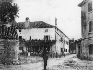 Trg u Marčani početkom XX. st., Marčana. Izvor: www.marcana.info