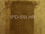 Portal crkve sv. Marije Magdalene početkom 20. stoljeća, Mutvoran. (fp. 564) Iz arhive Arheološkog muzeja Istre