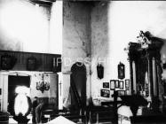 Unutrašnjost crkve sv. Marije Magdalene 1967. godine, Mutvoran. (bn. 8630) Iz arhive Arheološkog muzeja Istre