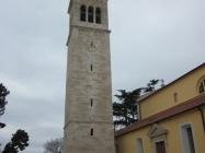 Zvonik župne crkve sv. Pelagija i sv. Maksima. Novigrad. Autor: Željko Cetina (2013.)
