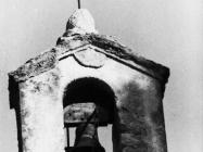Detalj zvonika crkve sv. Agate u Novigradu snimljen 1972. godine. Novigrad (fn. 11845.) Iz arhive Arheološkog muzeja Istre