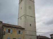 Zvonik župne crkve sv. Jurja, Oprtalj. Autor: Željko Cetina (2013.)