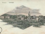 Kostanjevica oko 1920. godine. Kostanjevica.  Iz arhiva Zavičajnog muzeja u Buzetu