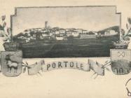 Pogled na Oprtalj 20.ih godina. Oprtalj.  Iz arhiva Zavičajnog muzeja u Buzetu