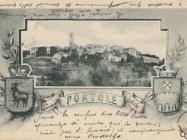 Pogled na Oprtalj 1913. godine. Oprtalj.  Iz arhiva Zavičajnog muzeja u Buzetu