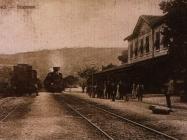 Željeznički kolodvor u Pazinu, 1911. godine.  Izvor: grad-pazin.net