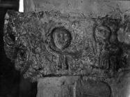 Rimska spolija u crkvi sv. Jurja 1953. godine, Plomin. (fn. 2155) Iz arhive Arheološkog muzeja Istre