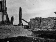 Stupovi Neptunovog hrama na trgu Marafor 1954. godine, Poreč. (fn. 2961) Iz arhive Arheološkog muzeja Istre