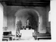 Unutrašnjost crkve sv. Germana u Režancima 1968. godine, Režanci. (bn. 8481) Iz arhive Arheološkog muzeja Istre