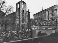 Crkva Svetog Antuna Opata  sredinom 60-ih godina, Roč. (bn. 7475) Iz arhive Arheološkog muzeja Istre