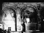 Freske u crkvi sv. Vincenca na groblju u Savičenti 1956. godine, Savičenta. (fn. 4512) Iz arhive Arheološkog muzeja Istre