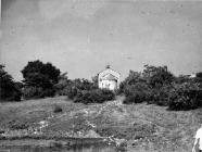 Crkva Svetog Lovre u Savudriji sredinom 60-ih, Savudrija. (bn. 7142) Iz arhive Arheološkog muzeja Istre