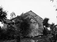 Crkva sv. Lucije krajem 50-ih godina, Selina. (fn. 4525) Iz arhive Arheološkog muzeja Istre