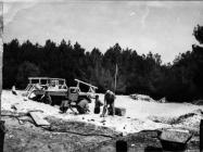 Radovi na rekonstrukciji stancije Sorna 1971. godine, Sorna. (fn. 10025) Iz arhive Arheološkog muzeja Istre