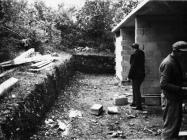 Tragovi rimske građevine u kompleksu Zelene lagune 1971. godine, Sorna. (bn. 10328) Iz arhive Arheološkog muzeja Istre