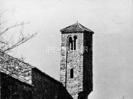 Zvonik crkve sv. Ivana evanđelista sredinom 60-ih godina, Gajana. (bn. 6363) Iz arhive Arheološkog muzeja Istre