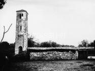 Crkva sv. Ivana evanđelista 1972. godine, Gajana. (fn. 11526) Iz arhive Arheološkog muzeja Istre