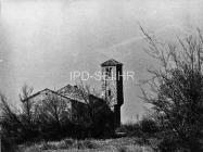 Crkva sv. Ivana evanđelista i razrušene kuće sredinom 60-ih godina, Gajana. (bn. 6364) Iz arhive Arheološkog muzeja Istre