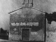 Crkva Svetog Ivana Krstitelja snimljena 1952. godine, Vižinada. (fn. 1157) Iz arhive Arheološkog muzeja Istre