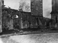 Pogled na lapidarij u Vižinadi 1952. godine, Vižinada. (fn. 1159) Iz arhive Arheološkog muzeja Istre