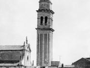 Pogled na zvonik i crkvu sv. Blaža, Vodnjan. (foto Orel) Iz arhive Arheološkog muzeja Istre