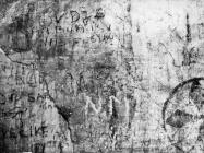 Freske i prikazi brodovlja u crkvi sv. Nedjelje u Vodnjanu 1992. godine, Vodnjan. (fn. 26010) Iz arhive Arheološkog muzeja Istre